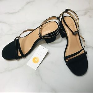 a new day Black ACV68 Sele Open Toe Heels